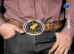 9054FJ PDC - Fivela Country Touro Bull Rider