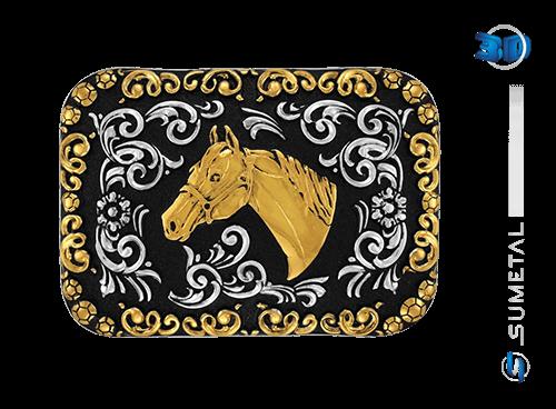 9101FJ PD - Fivela Country Cabeça de Cavalo