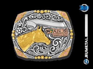 9228FE PDC - Fivela Country ABQM Cabeça de Cavalo