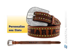 CT0108 - Cinto Country Com Nome Personalizável