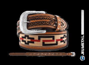 CT0145 - Cinto Country Indígena com Cravos