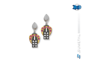 KIT0035 - Conjunto Country Colar e Brinco Cinto