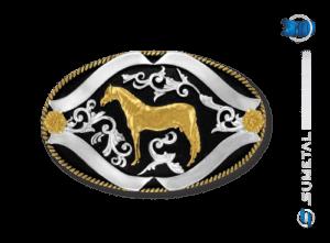 9104FJ PD - Fivela Country Cavalo Crioulo