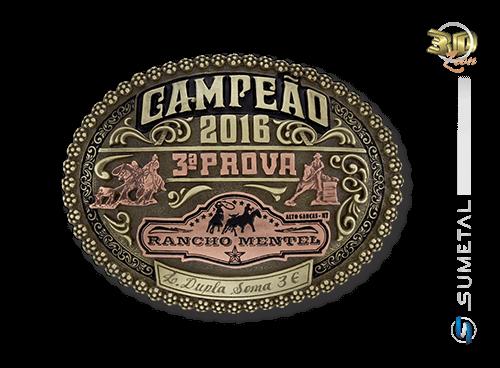 9247F - Fivela Personalizada Country Campeão Rancho Mentel