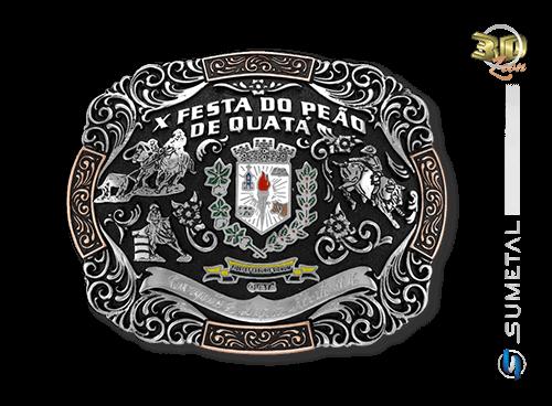 9391FJ - Fivela Personalizada Country Festa do Peão de Quatá