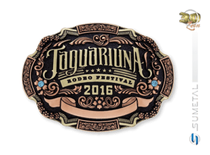 9520FJ- Fivela Personalizada Country Rodeio de Jaguariúna