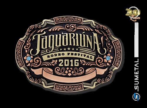 Fivela Personalizada Country Rodeio de Jaguariúna