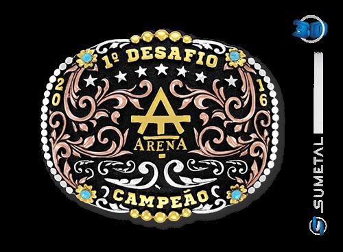 9532FJ - Fivela Personalizada Country Campeão Desafio Arena