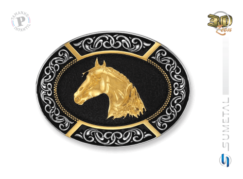 9636FJ ND - Fivela Country Cabeça de Cavalo Infantil