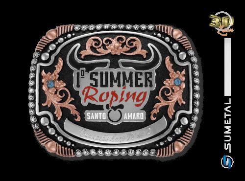 9770FJ - Fivela Personalizada Country 1º Summer Roping Santo Amaro