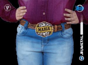 9783FJ PD - Fivela Country Gravação Especial Feminina Infantil
