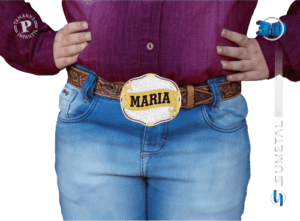 9783F PD - Fivela Country Gravação Especial Feminina Infantil