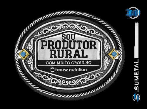 9829FE - Fivela Personalizada Country Selo Sou Produtor Rural