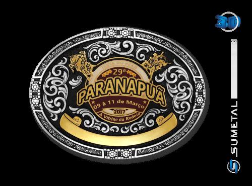 9831FJ - Fivela Personalizada Country Festa do Peão de Paranapuã