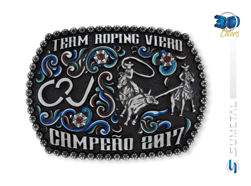 9832FJ Fivela Country Campeão Team Roping Viero