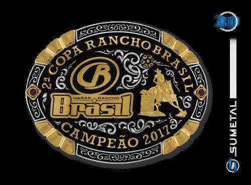 10037FJ - Fivela Country Personalizada Copa Rancho Brasil