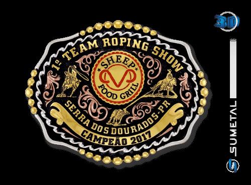 10058FJ Fivela Country Team Roping Show Serra dos Dourado MT
