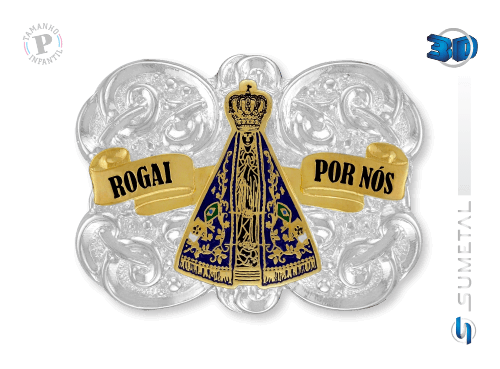 9625F PD - Fivela Country Nossa Senhora Infantil