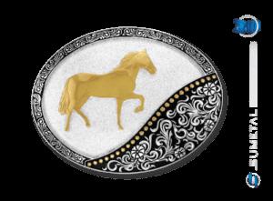 9776F PD - Fivela Country Cavalo Mangalarga Marchador