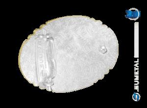 9801FJ PD - Fivela Country Laço Comprido