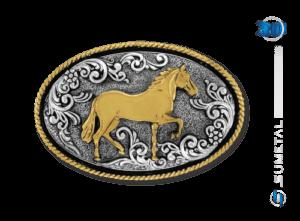 9823FE PD - Fivela Country Cavalo Mangalarga Marchador