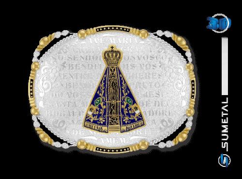 10229F PD - Fivela Country Nossa Senhora c/ Oração da Ave Maria