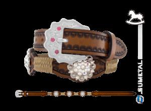 CT0167 - Cinto Country Flor Boreal Infantil