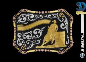 9055FJ PDC - Fivela Country Tambor Masculino