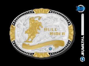 9924F PD - Fivela Country Touro Bull Rider