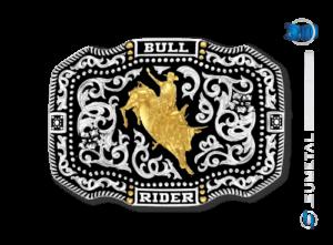 10623FJ PD - Fivela Country Touro Bull Rider