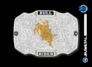10623F PD - Fivela Country Touro Bull Rider