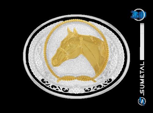 10663F PD - Fivela Country Cabeça de Cavalo