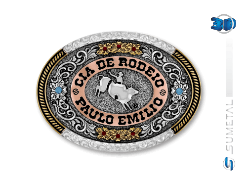 10426FE Fivela Personalizada Cia de Rodeio Paulo Emílio