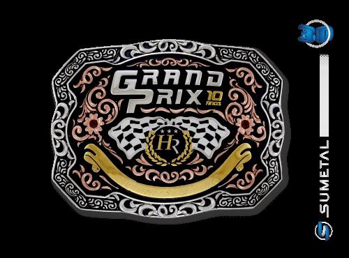 10618FJ Fivela Personalizada Grand Prix Haras Raphaela