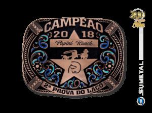 10759FJ Fivela Personalizada Prova de Laço Papini Ranch