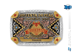 10947FE Fivela Personalizada Morungaba Rodeo Fest