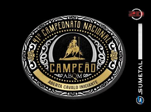 10956FJ Fivela Personalizada 41º Campeonato Nacional ABQM