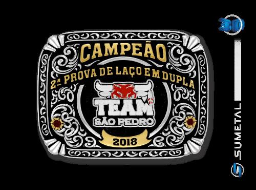 10966FJ - Fivela Personalizada Team São Pedro