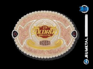 11011FJ Fivela Personalizada Socorro Rodeio Festival