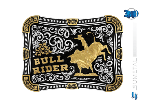10605FJ PD - Fivela Country Bull Rider