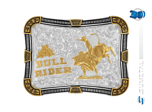 10605F PD - Fivela Country Bull Rider