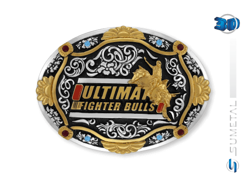 10842FJ PD - Fivela Country UFB Ultimate Fighter Bulls