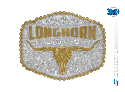 10924F PD - Fivela Country Longhorn