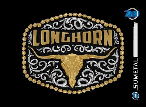 10924FJ PD - Fivela Country Longhorn