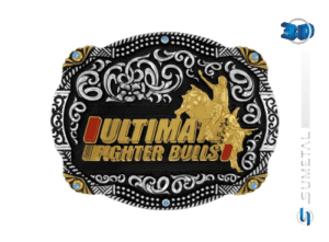 11022FJ PD - Fivela Country UFB Ultimate Fighter Bulls