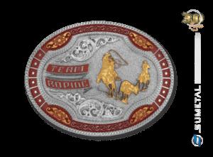 11216F ND Borda Vermelha - Fivela Country Team Roping