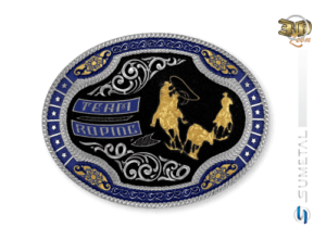 11216FJ ND Borda Azul - Fivela Country Team Roping