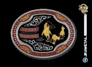 11216FJ ND Borda Vermelha - Fivela Country Team Roping