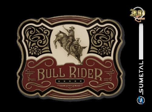 11223F OV - Fivela Country Touro Bull Rider