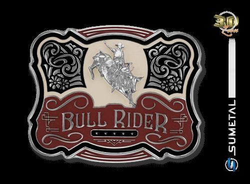 11223F NI - Fivela Country Touro Bull Rider
